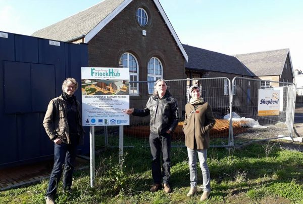 Romanian and Belgium Visitors At Friockheim Hub - Angus LEADER