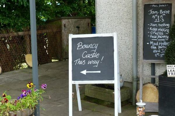 Peel Farm shop board - Angus LEADER